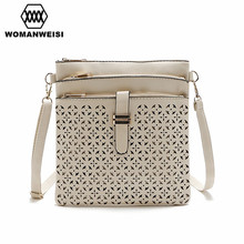 Brand New PU Leather Bag Women's Hollow Out Flower Fashion Small Women Messenger Bags Female Crossbody Shoulder Bags Kabelky