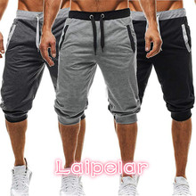 New Fashion Mens Baggy Jogger Casual Slim Harem Short Slacks Soft Cotton Trousers Shorts Laipelar