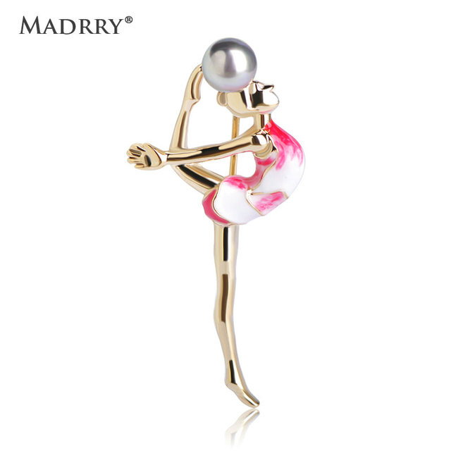 Madrry alloy metal sport gymnastics girl brooches simulated pearl madrry alloy metal sport gymnastics girl brooches simulated pearl smooth enamel polish clothes suit sweater pin thecheapjerseys Images