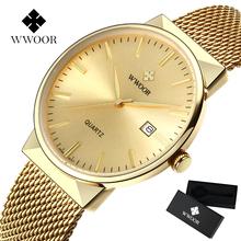 Gold Wrist Watch Men Top Brand Luxury Famous Male Clock Quartz Waterproof Watch Golden Wristwatch Quartz-watch Relogio Masculino