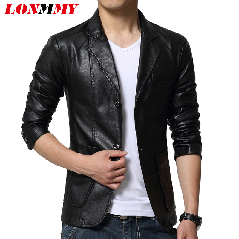 LONMMY M-6XL Suede leather jacket men blazer jaqueta Slim casual coat men suits casacos mens leather jackets and coats New 2018