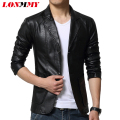 LONMMY M-6XL Suede leather jacket men blazer jaqueta Slim casual coat men suits casacos mens leather jackets and coats New 2016