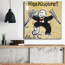 Alec Monopolies Man Healthcare Canvas Painting Print Living Room Home Decor Modern Wall Art Oil Painting Poster Salon Pictures billie eilish fan art poster canvas painting print living room home decor modern wall art oil painting salon pictures framework