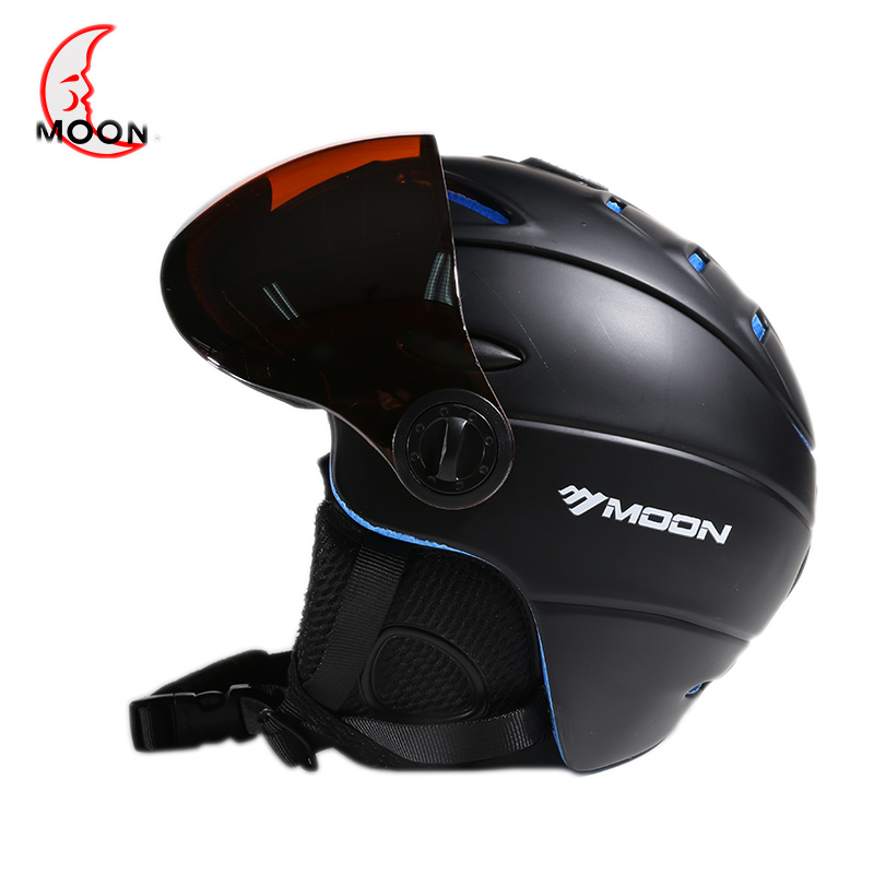 Moon skiing helmet autumn and winter adult male ladies monoboard skiing flanchard equipment Snow Sports saftly Helmets glasses black kayak boating water sports helmet abs out shell prefessional water skiing helmet