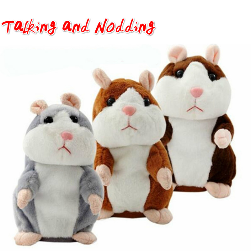 Talking Hamster Sound Toys Electric Toys Plush Stuffed Animals Cheeky Hamster Toy Speak Hamster Early Education Toy For Kid Gift