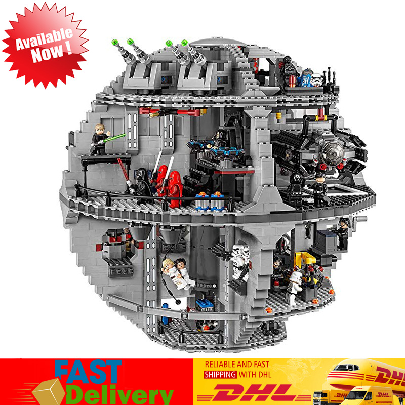 Classic Lepin 05035 3804pcs Death Star Star Wars Model Building Block Bricks Children Toys Kits Compatible LegoINGlys with 75159 lepin 05035 star series death wars 3804pcs building bricks toys kits compatible with legoinglys 10188 educational gift for boy