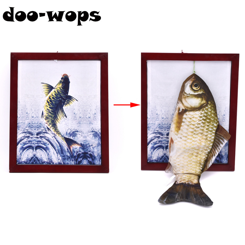 Fish Frame Magic Tricks Magician Stage Party Gimmick Props Illusion Mentalism Funny Plush Fish Toy Appearing From Board Magia