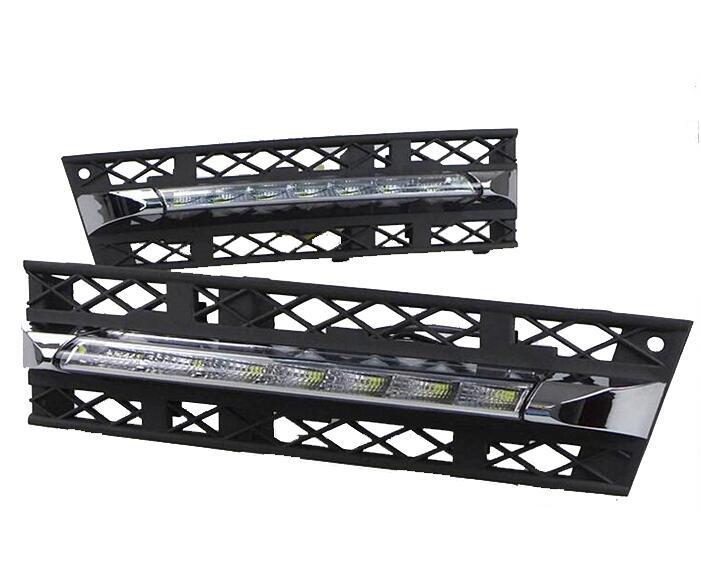 Car Stlying 12V LED Daytime Running Light DRL Fog Lamp Decoration For BMW F01 F02 730i 740i 750i 760i 2009-2013 2PCS