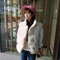 2 цвета 2016 осень и зима Сплошной цвет утолщение жилет женщин хлопка мягкий зимняя куртка женщин (A8948)