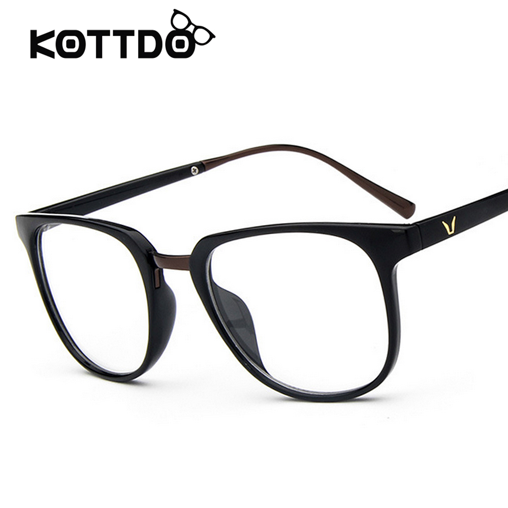KOTTDO140mm Big Square Women Mens Eyeglasses Frame 6 Colors New Desinger Metal Leg Fashion Eyewear With Clear Lens oculos grau