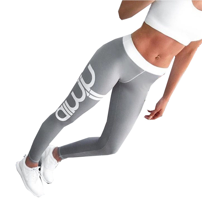 Aimn Print Sport Women Jogging Long Pant Tracksuit font b Fitness b font legging high waist