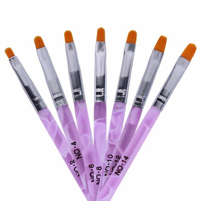 QT Nail 7pcs/lot Nail Art Brush Manicure Tools Set Kit