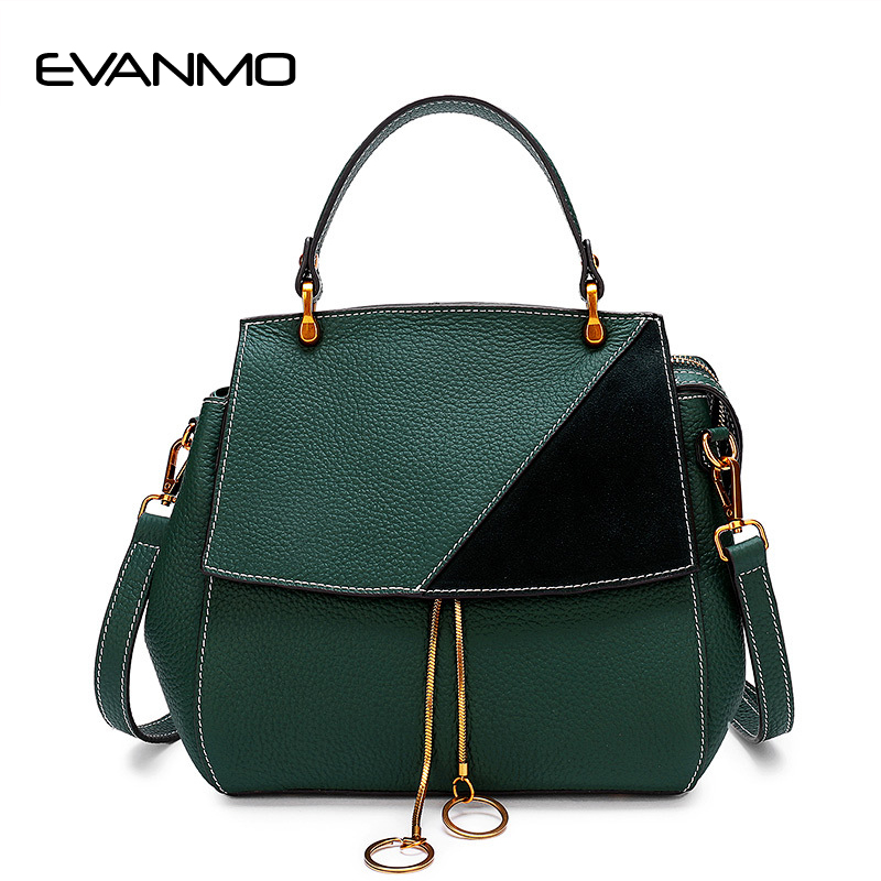 High-quality Designer Original Leather Handbags Fashion Retro Shell Frosted The First Layer of Leather Shoulder Messenger Bag 95 120usd popular high quality ba lovely retro fashion handbags messenger double back college bai le li 3 22