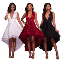 Speed Sell Through Ebay Amazon Europe And The United States Standard Code Posed Embroidery Lace Dress