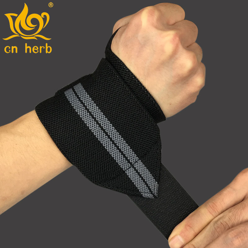 Cn Herb wristband of body building wristband bandage is helpful for strength training and weight lifting of sports gloves in Braces Supports from Beauty Health