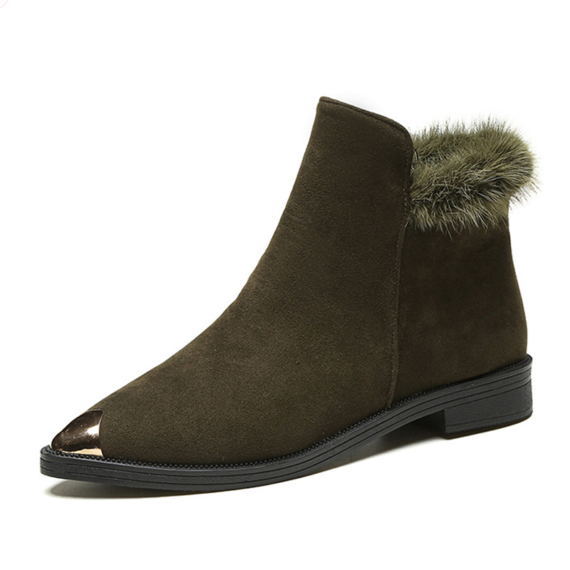Women Winter Boots New Arrival Leather Snow Boots  Plush Cashmere Warm Ankle Boots Casual Flats Shoes women boots 2016 new arrival women winter boots warm snow boots fashion heels ankle boots for women shoes