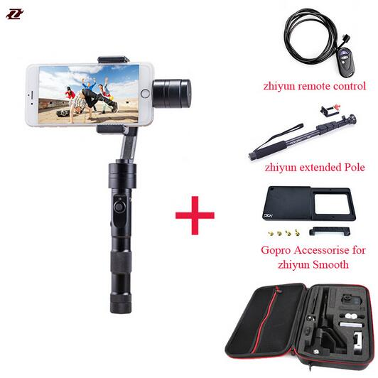 Zhiyun Z1 Smooth C plus 3 Axis brushless phone gimbal smartphone stabilizer handheld for iPhone 6 s plus DHL EMS Free Shipping