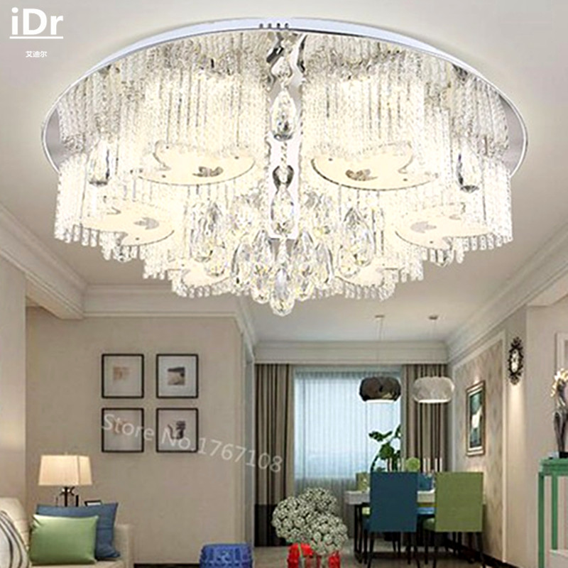 2016 Neue Lichter Flache Kristall Lampe Schlafzimmer Wohnzimmer Dimmen Versprechen Deckenleuchten Gehobenen Atmosphre