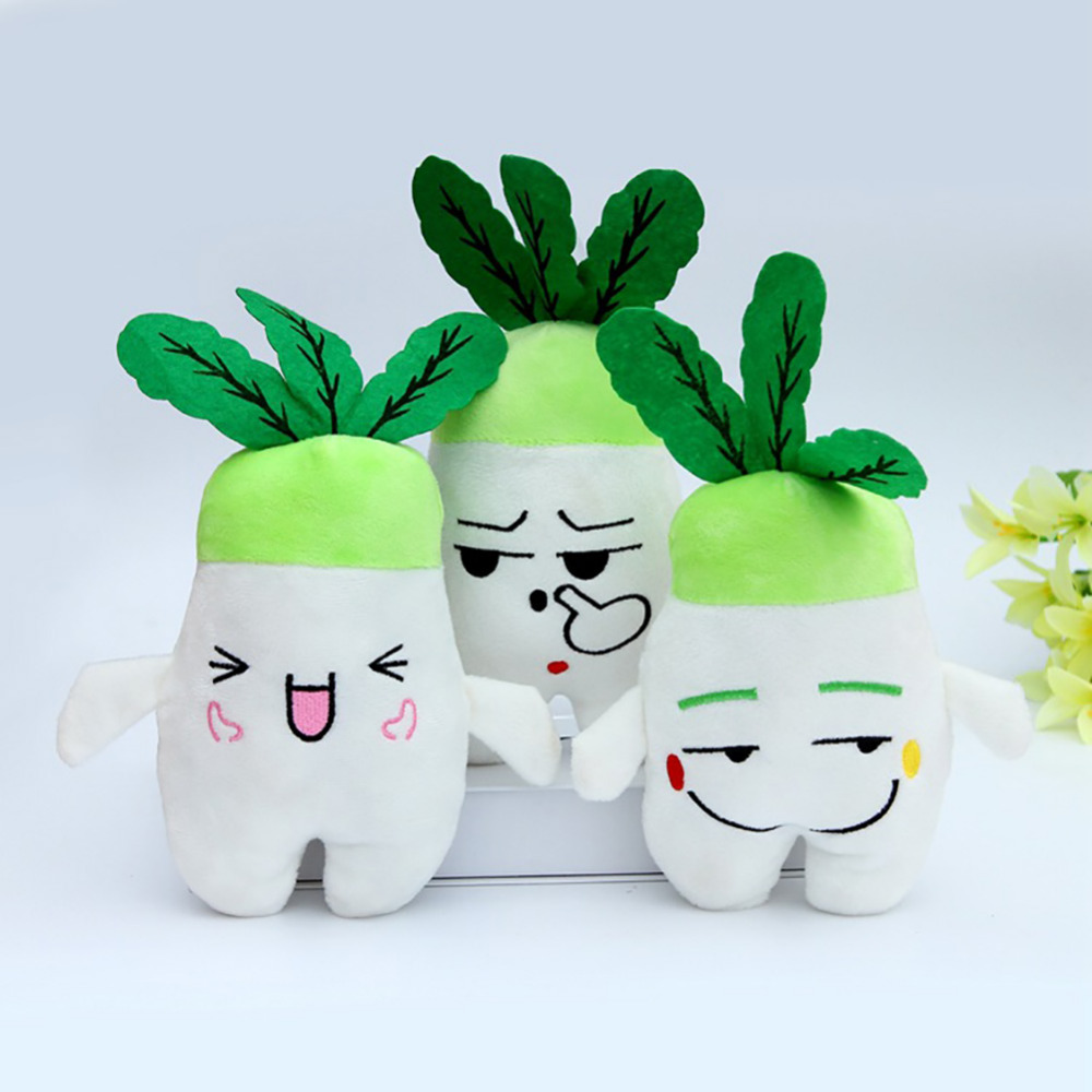 Emoj Plush Radish Doll Plush Toy Turnip Doll With Random Face Express 2pcs/LOT