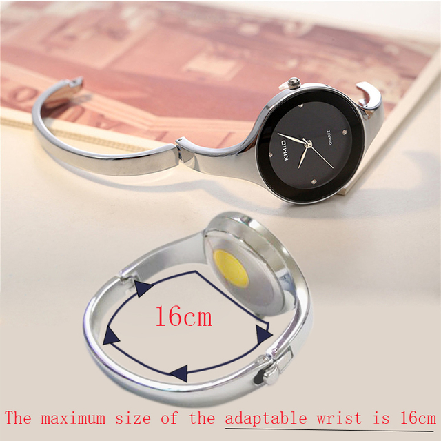 KIMIO Brand Women Classic White Bracelet Watches Stainless Steel Ladies Big Dial Quartz Watches Clock Female Dress montre femme