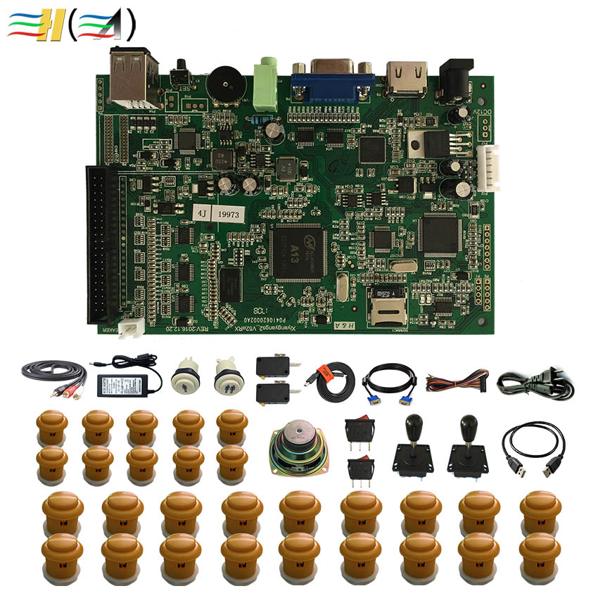 Pandora box 4S+ 815 game in 1 joystick arcade button kit diy arcade joystick parts buttons cabinet button switch arcada speaker hdmi vga pandora box 4s arcade game board 815 in 1 with 28 pin harness for arcade mechine diy arcade kit