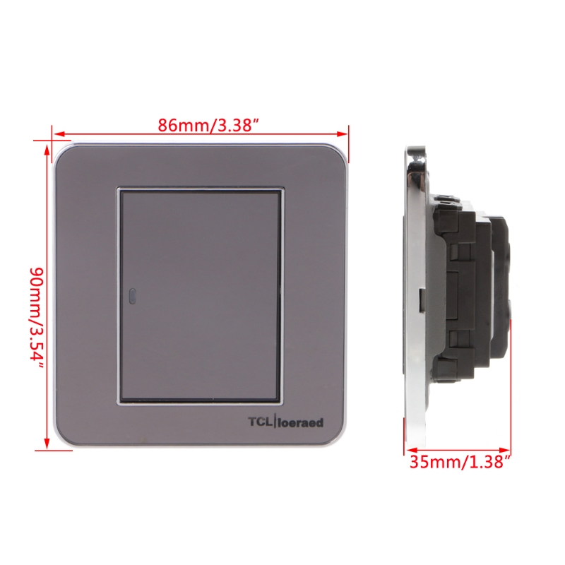 OOTDTY Modern Style 1 Gang 1 Way Wall Socket Light Switch Acrylic Panel Push Button With LED Indicator AC 110~250V/50~60Hz bqlzr dc12 24v black push button switch with connector wire s ot on off fog led light for toyota old style