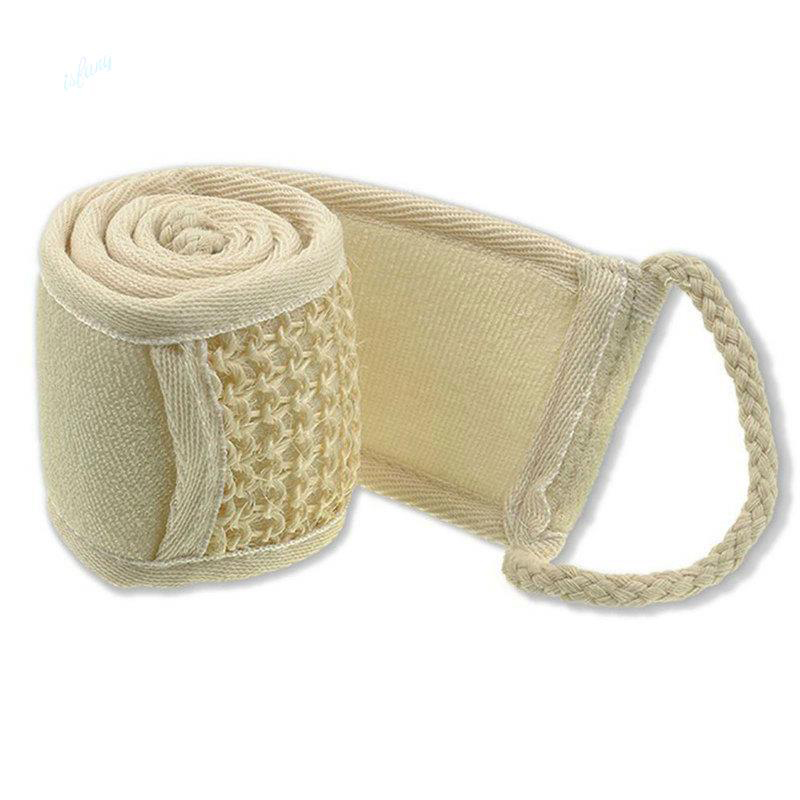 Soft Exfoliating Scrubber Natural Loofah Back Strap Bath Brush Back Shower Massage Spa Scrub Sponge For Bath Belt Body Cleaning