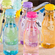 550mL BPA Free Portable Leakproof Unbreakable Travel Water Bottle Yoga  Running Camping Outdoor Biking Sport