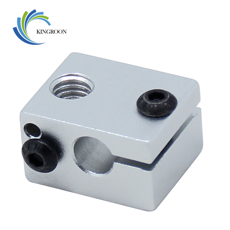 5pcs/lot V6 Heat Block Aluminum 20*16*12 mm Part For J-head Extruder HotEnd 3D Printers Parts Heater Hot End Heating Accessories