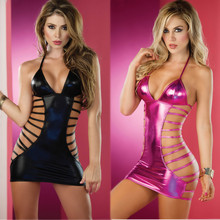 2019 New Hot Sexy Erotic Lingerie Women Party Dress Leather Latex Club Costumes Catsuit Underwear