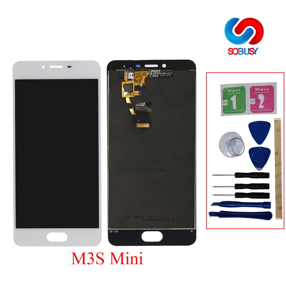 LCD <font><b>Display</b></font> For <font><b>Meizu</b></font> M3S <font><b>Mini</b></font> LCD Screen for <font><b>meizu</b></font> <font><b>m3</b></font> <font><b>mini</b></font> Touch Screen Digitizer Glass Panel Assembly Replacement parts+tools image