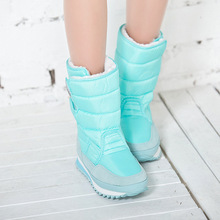 2016 Winter hot new fashion boots colorful cashmere add plush casual short tube women snow boots big size 35-46