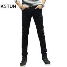 KSTUN Men Jeans Pencil Pants Stretch Casual Slim Leg Skinny Boys Male Yong Man Denim Trousers