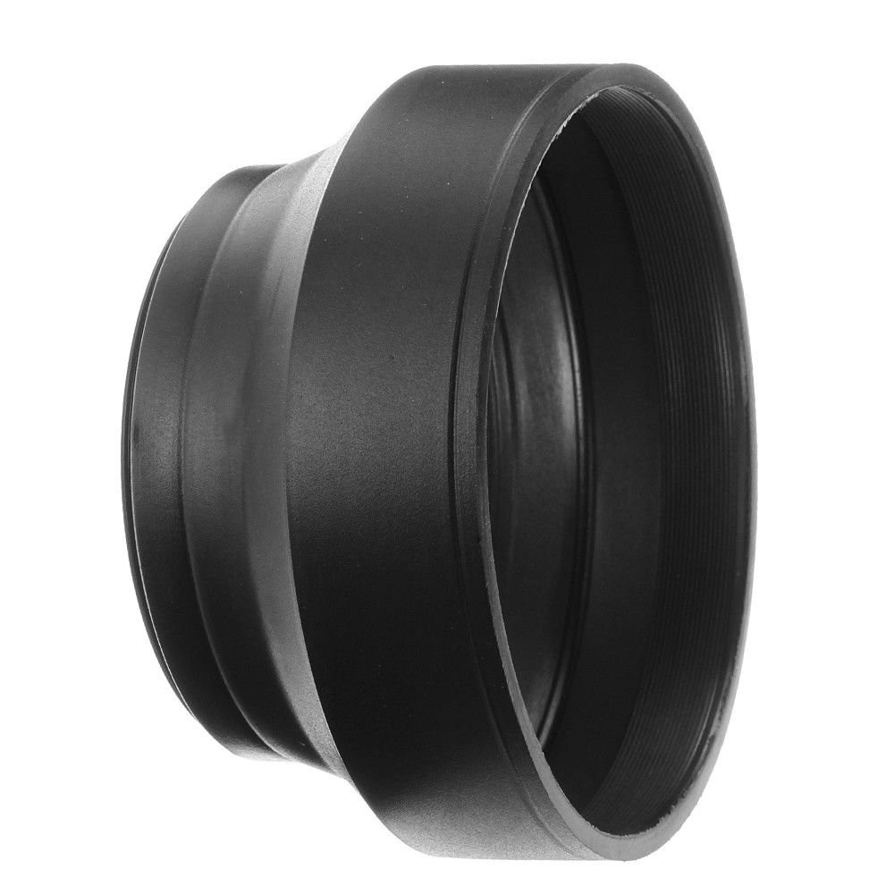 Collapsible 3 Stage Rubber Lens Hood Sun Shade For Camera Lq