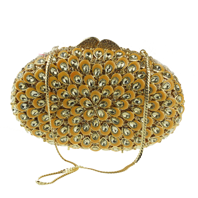oval-shaped gold clutch bag8
