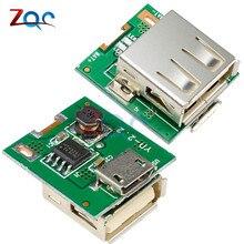 2 шт. DC 5 В Повышающий Модуль питания литиевая батарея защита зарядки плата повышающий преобразователь Светодиодный дисплей USB для DIY зарядное устройство 134N3P