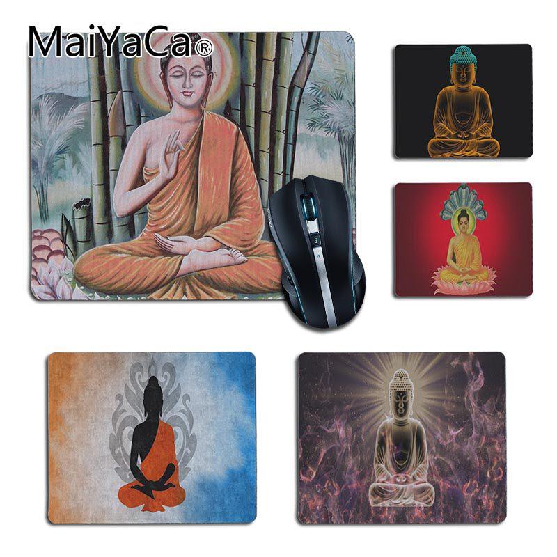 1 X Stone Statue Buddha Zen Mousepad,Custom Rectangular Mouse Pad