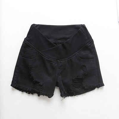 Шорты для беременных женщин Летняя одежда джинсовые шорты с низкой талией летняя одежда новые весенние Свободные Штаны для беременных женщин одежда