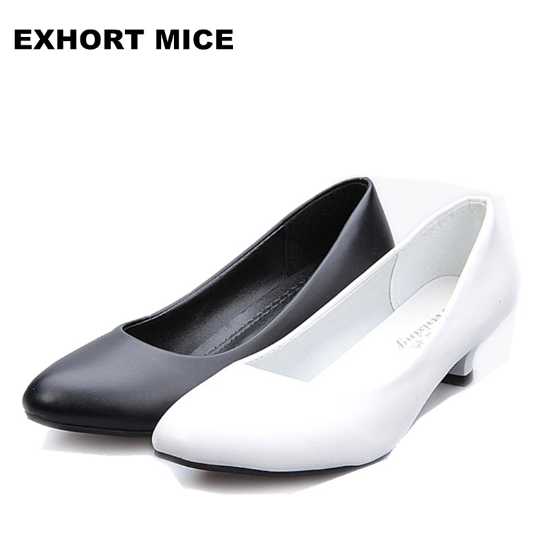 2019 Super High Women Shoes Pointed Toe Pumps   Dress High Heels Boat Wedding Shoes Zapatos Mujer Matte Low-heeled