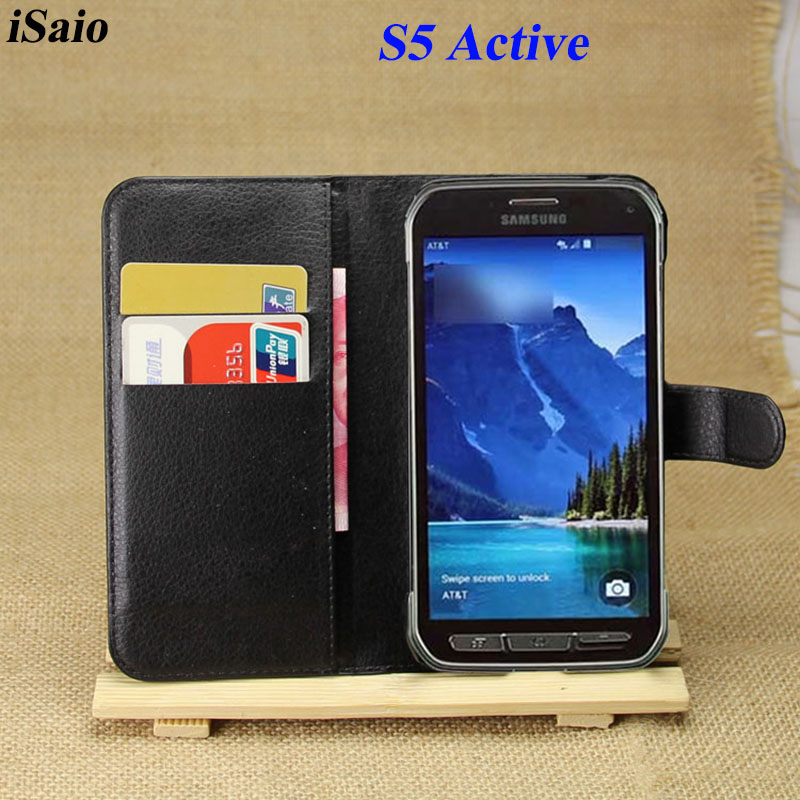Flip Wallet Case for Samsung Galaxy S5 Active Cover <font><b>G870</b></font> G870A Luxury PU Leather for Samsung S5 Active Case Soft TPU Inner Shell image