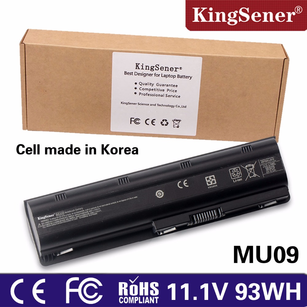 KingSener 11.1V 93WH MU09 Laptop Battery for HP Pavilion G4 G6 G7 G32 G42 G56 G62 G72 CQ32 CQ42 CQ43 CQ62 CQ56 CQ72 DM4 MU06 100wh original new laptop battery mu09 for hp pavilion g4 g6 g7 g32 g42 mu06 g56 g62 g72 cq32 cq42 cq62 cq72 dm4 593553 001