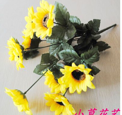 silk artificial sunflowers decorative flowers home decor wedding derocation 10pcslot ma1494china - Sunflower Decorations