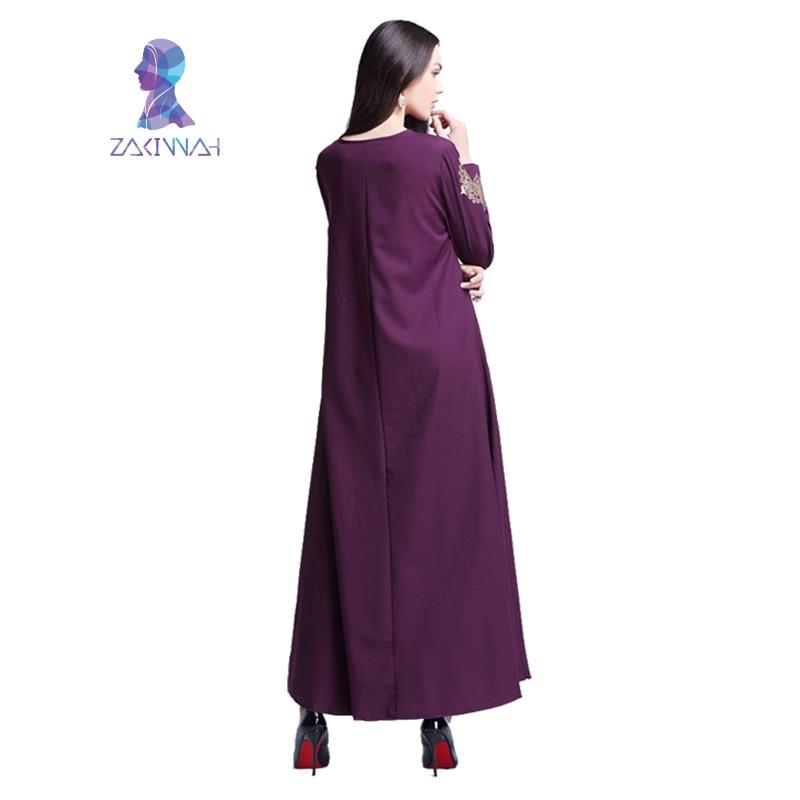Robe imprimée longue musulmane pour femmes longue Dubaï caftan - Vêtements nationaux - Photo 5
