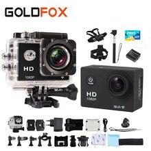 Goldfox Спорт действий камеры 1080 P Full HD WIFI Спорт DV фото камеры Go Водонепроницаемый Pro Дайвинг Автомобильный режим DVR велосипед шлем CAM