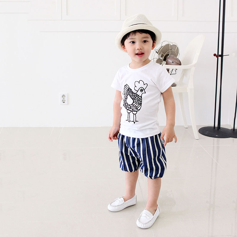 2-7Y-Kids-Toddler-Boys-Short-Sleeve-Cotton-T-shirt-Summer-Pullover-Tee-Tops-B998-3
