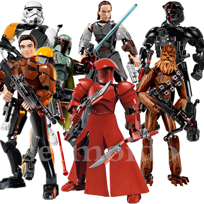 Solo: A Star Wars Story Jango Phasma Jyn Erso K-2so Darth Vader General Grievous Figure Toy Building Blocks Toys For Children ksz326 star wars rogue one toys jango phasma jyn erso k 2so darth vader general grievous figure toy building blocks toys