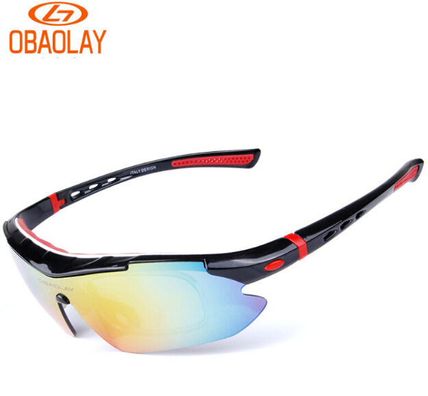 dcd97adc05 OBAOLAY Professional Polarized Cycling Glasses Bike Goggles Outdoor Sports  Bicycle Sunglasses UV 400 With 5 Lens TR90-in Cycling Eyewear from Sports  ...