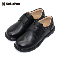 Kalupao autumn black kids boys leather school shoes round toe soft cow muscle sole party shoes boys dress wedding uniform shoes