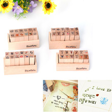 12pcs DIY Scrapbooking Lace Stamps Vintage Wood Rubber Craft Ink Pad Diary Scrapbook Stamp Wax Seal Stamp