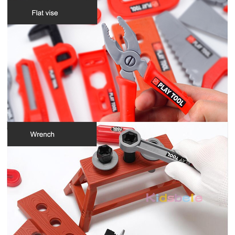 Kids Toolbox Kit Educational Toys Simulation Repair Tools Toys Drill Plastic Game Learning Engineering Puzzle Toys Gifts For Boy 4